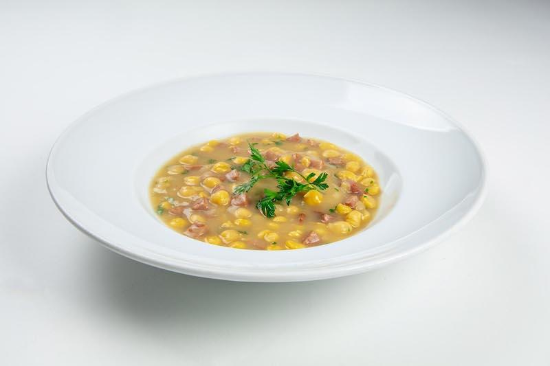 Sopa de grão de bico com linguiça paio - 350 g