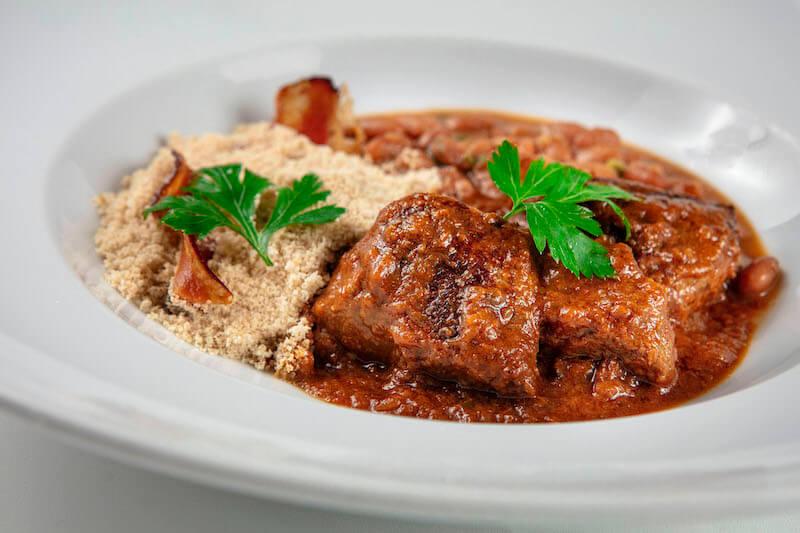Carne de Panela com arroz, feijão e farofa de bacon - 430 g