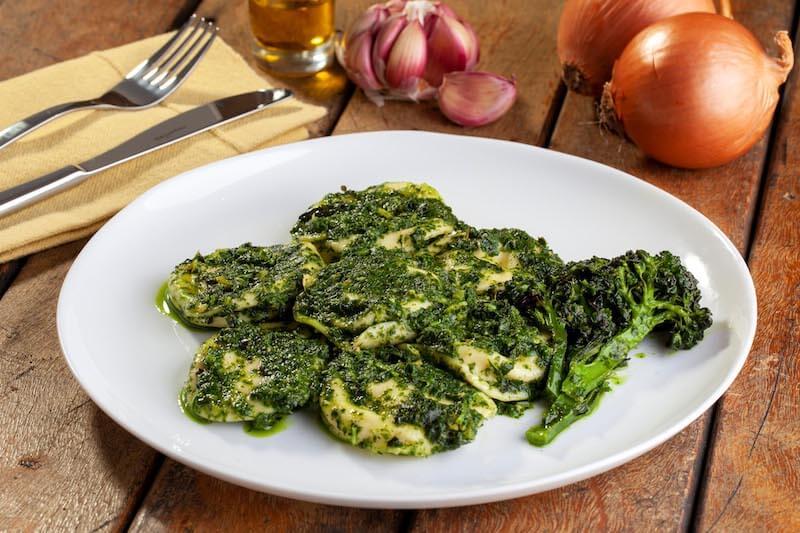 Sorrentine de cabra, pesto de ervas, nozes e brocolis - 335 g