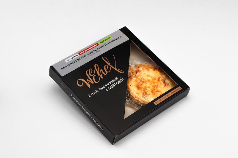 Wechef- Mini Quiche de Brie, Ricota, Parmesão e Damasco - 180 g