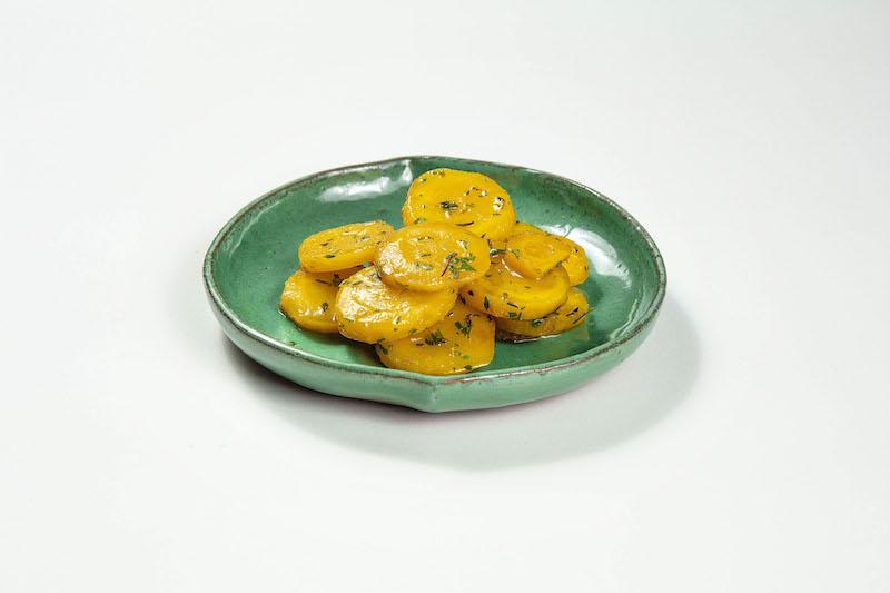 Mandioquinha assada com azeite de ervas frescas - 100 g